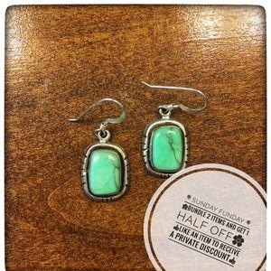Green semi-precious stone earrings